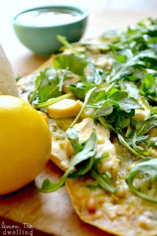 Pesto Chicken Flatbread 4