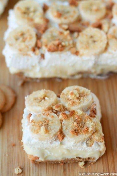 Creamy Banana Pudding Bars