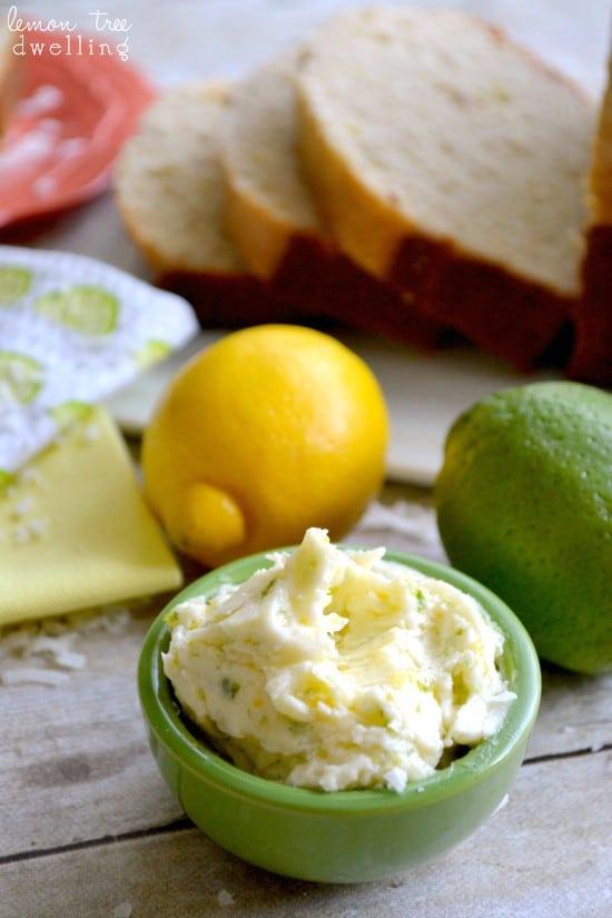 Lemon Coconut Quick Bread w/Citrus Honey Butter. PERFECT for spring & summer!!