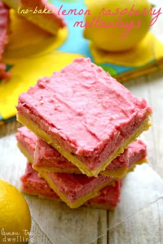 Raspberry Lemon Meltaways - a deliciously easy no-bake recipe!