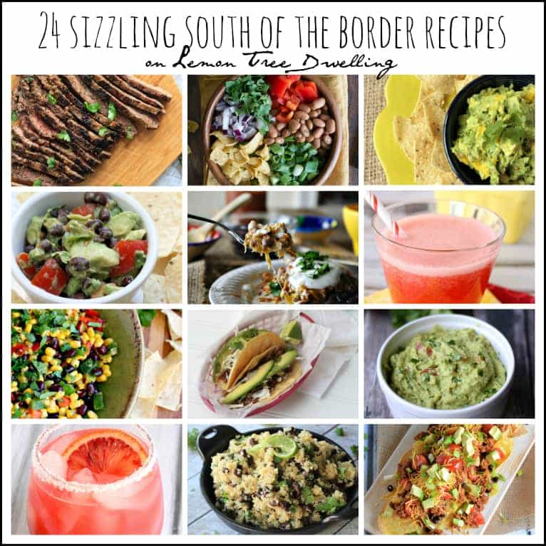 24 Sizzling South of the Border Recipes - these look AMAZING!!