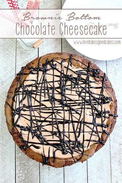 Brownie Bottom Chocolate Cheesecake