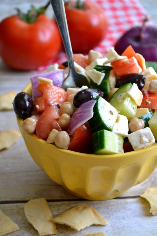 Greek Picnic Salad - a definite crowd pleaser!!