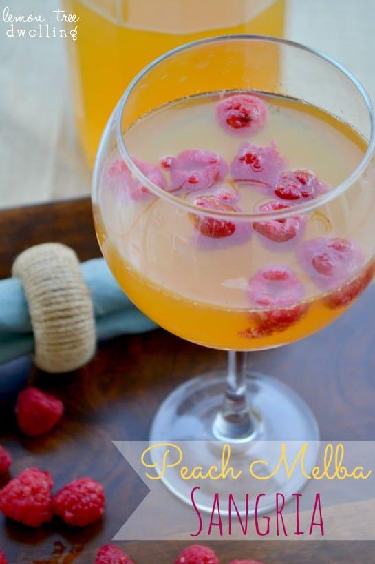 Peach Melba Sangria 1