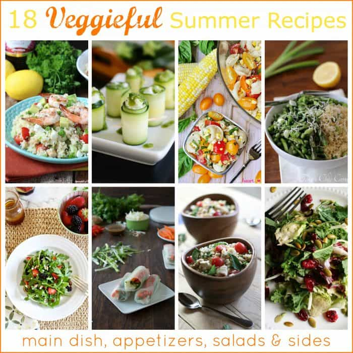 Veggieful Summer Recipes Collage
