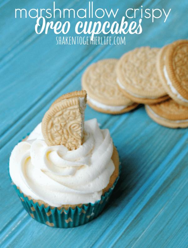 marshmallow-crispy-Oreo-cupcakes-marshmallow-buttercream