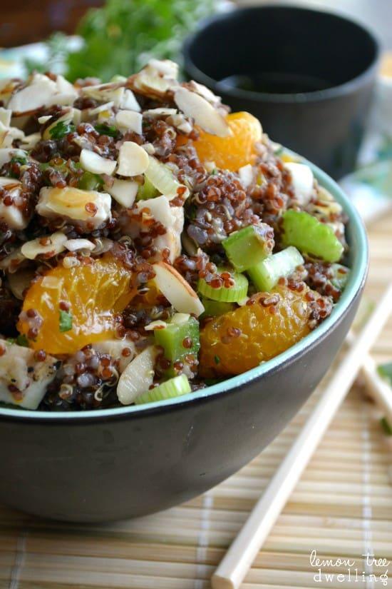 Asian Chicken Quinoa Bowl - love this idea!
