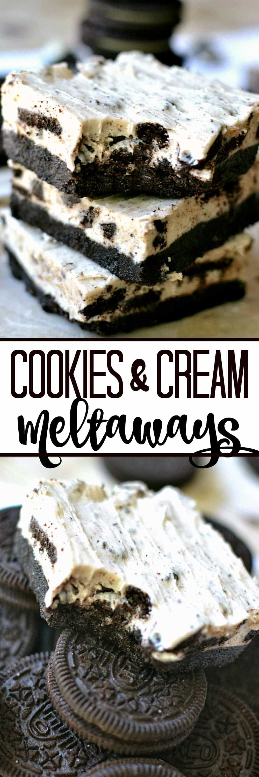 No-Bake Cookies & Cream Meltaways - an extra-creamy, melt in your mouth way to enjoy cookies & cream!