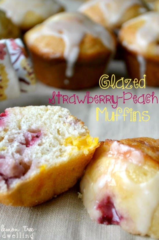 Glazed Strawberry-Peach Muffins 1 Fixed