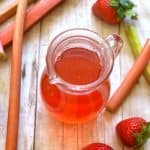 Strawberry Rhubarb Simple Syrup 1