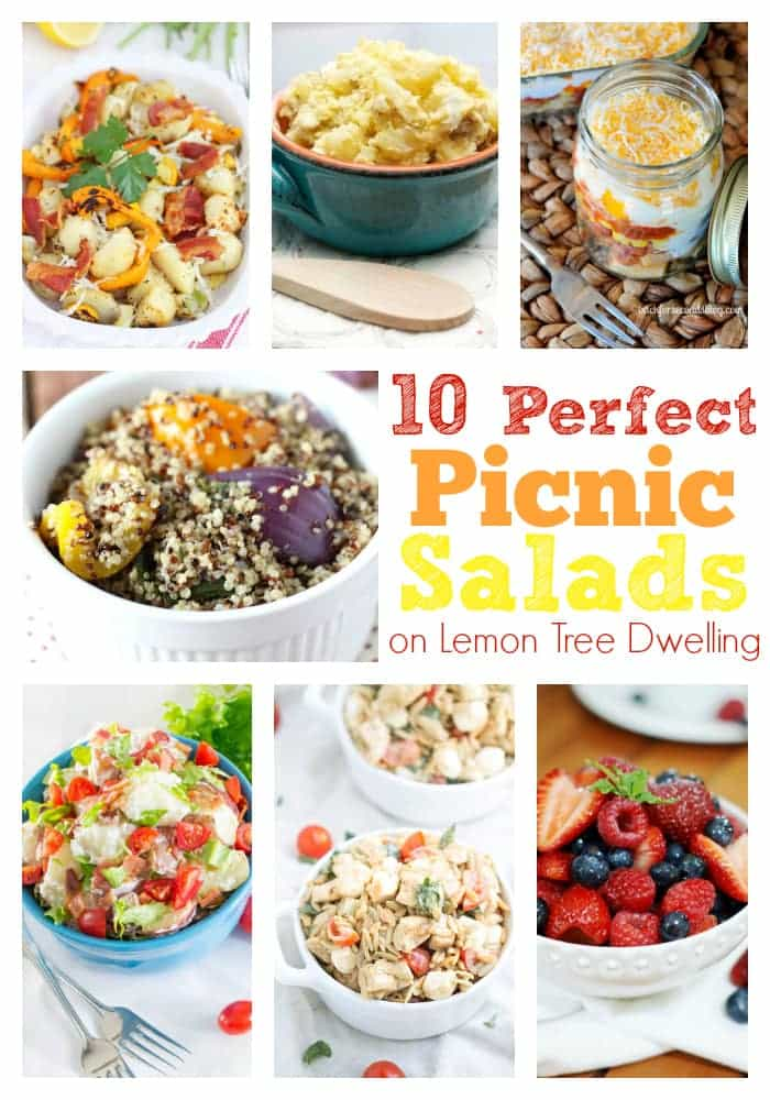 10 Perfect Picnic Salads to make & take on the go!