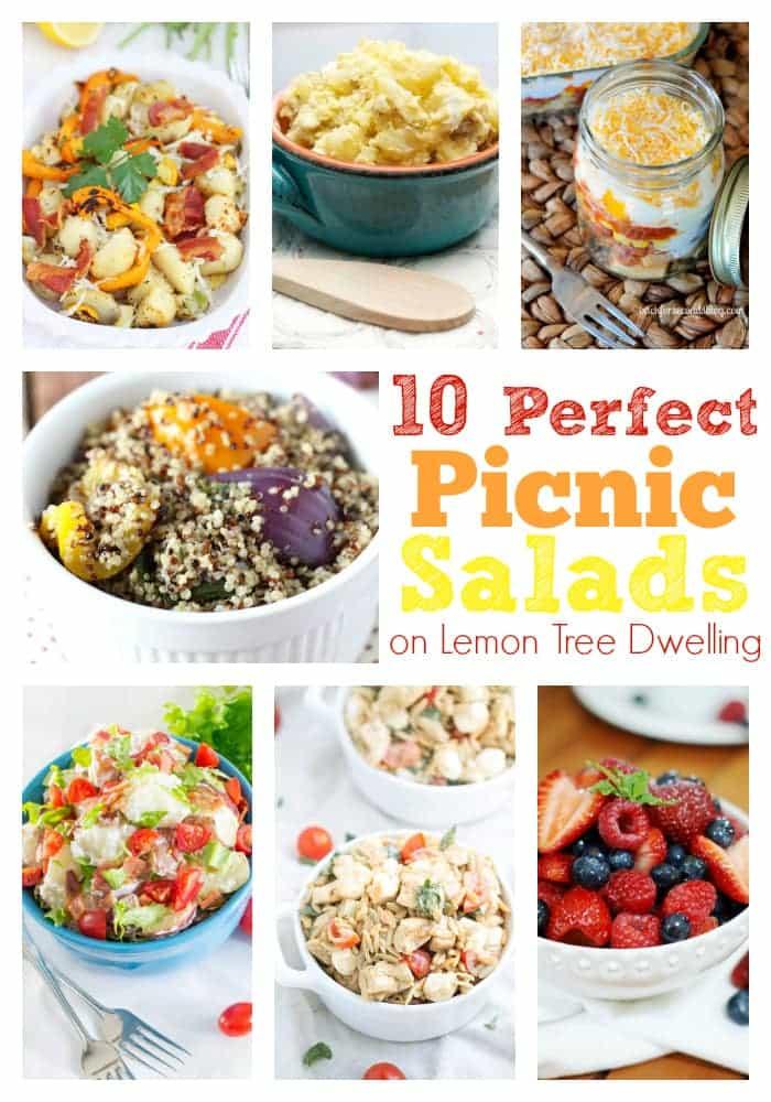 Picnic Salads Collage 2