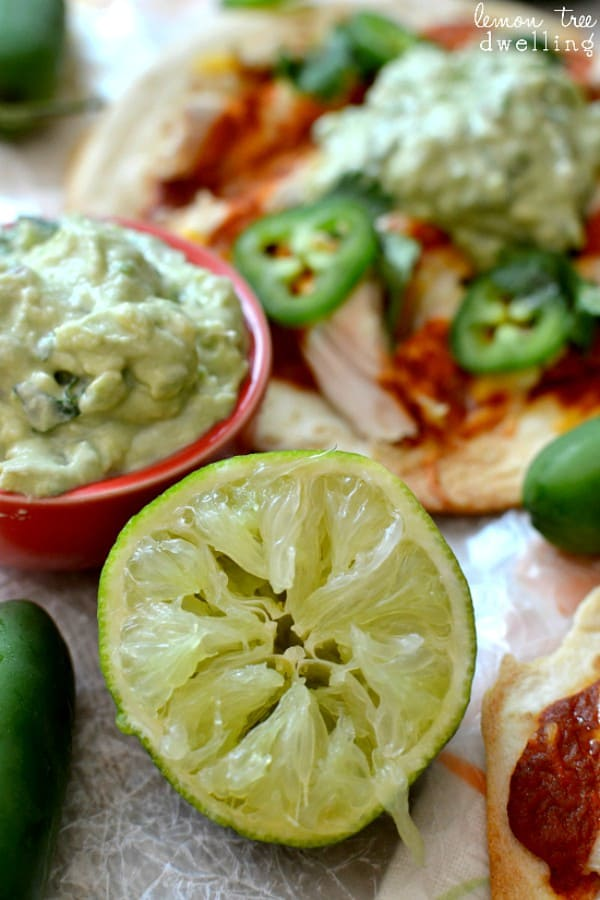 Skinny Enchilada Tostadas with Avocado Crema