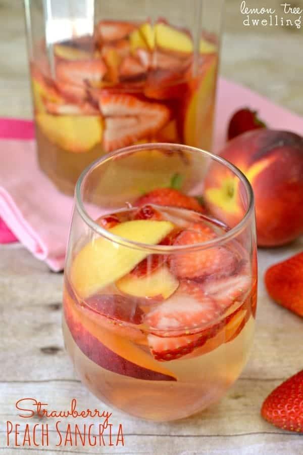 Strawberry Peach Sangria | Lemon Tree Dwelling