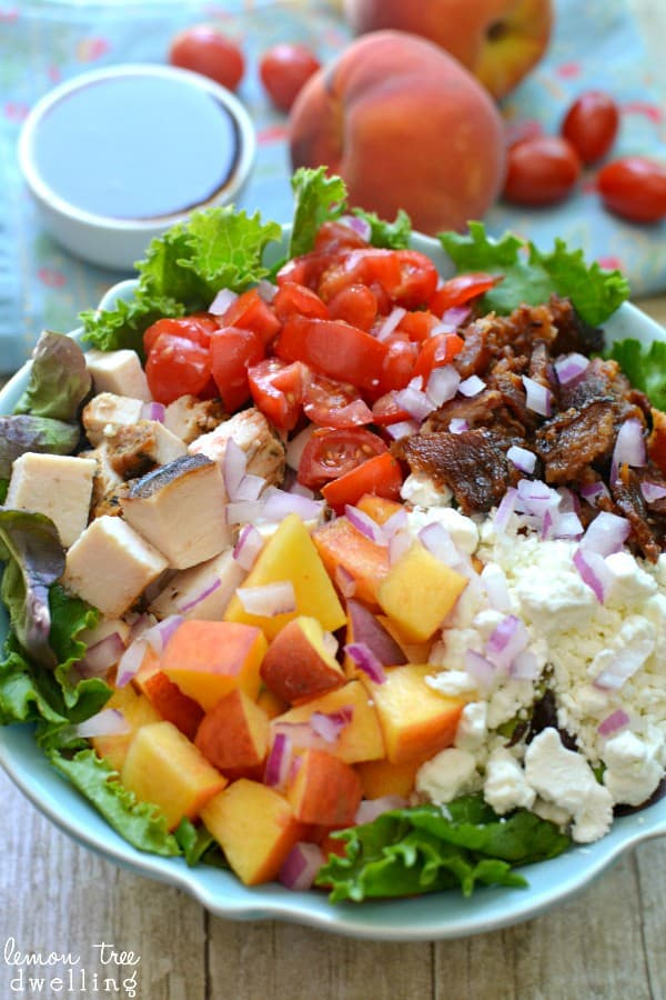 Peachy Cobb Salad - such a refreshing twist for summer!