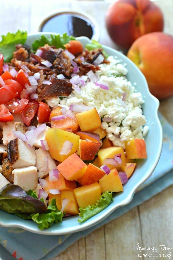 Peachy Cobb Salad - what a refreshing twist for summer!