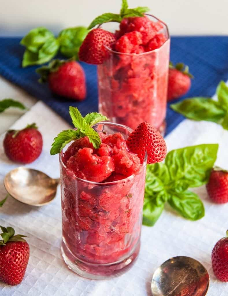 strawberry granita