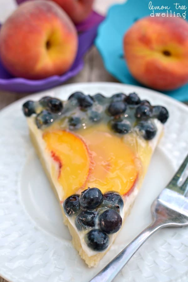 Fresh Blueberry Peach Tart & Kizmos Flora Collection giveaway!