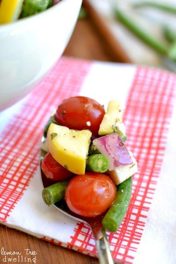 Fresh Green Bean Salad with Lemon Vinaigrette