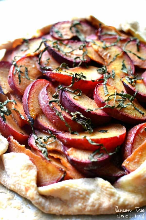Plum & Basil Galette - deliciously simple!