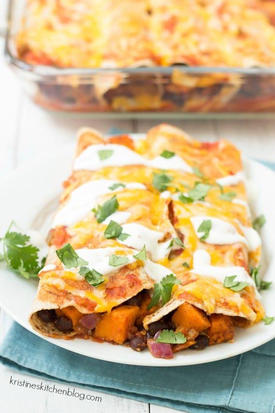 Sweet-Potato-and-Black-Bean-Enchiladas-a-healthy-vegetarian-take-on-your-favorite-enchiladas-Kristines-Kitchen-3095wm