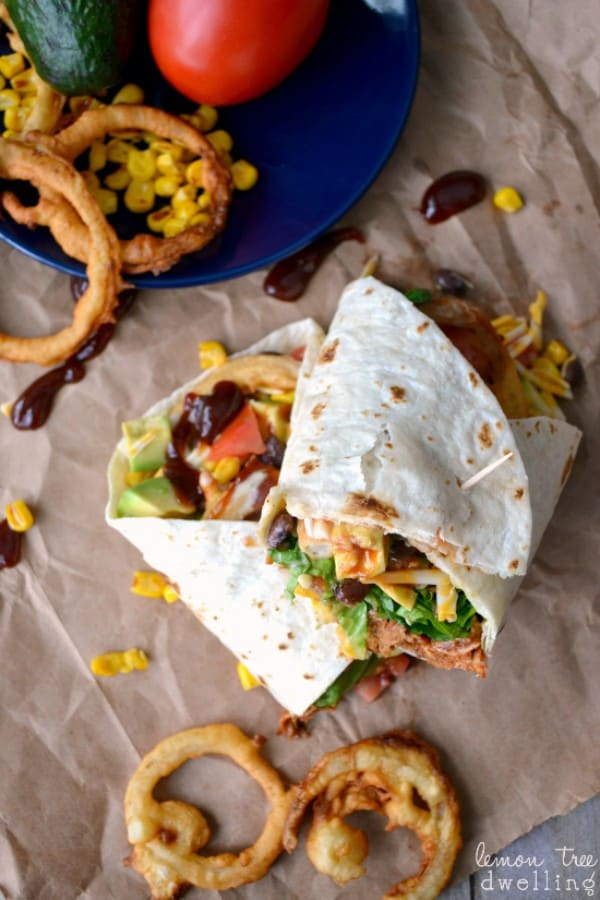 BBQ Ranch Chicken Wrap - a la The Cheesecake Factory!