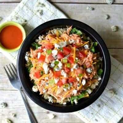 Buffalo Chicken Quinoa Bowls