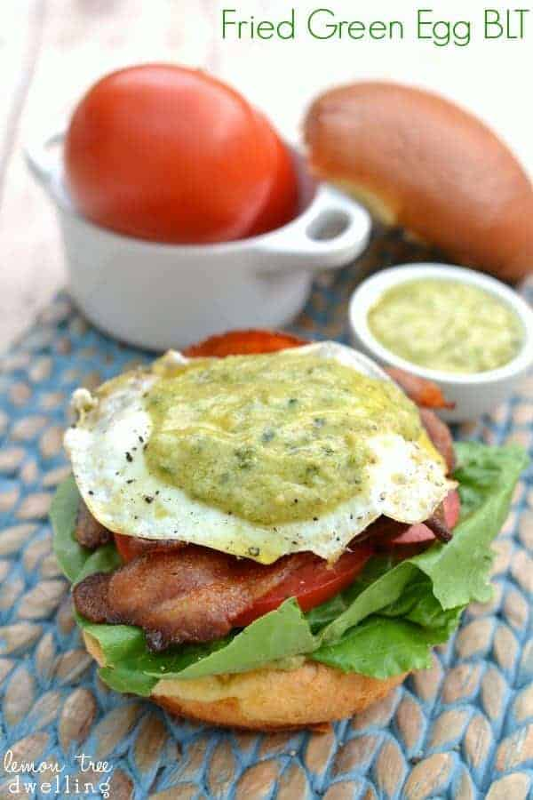 Fried Egg BLT with Pesto Mayo