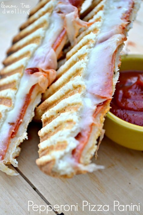 Pepperoni Pizza Panini 1