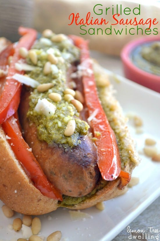 Red Pepper Pesto Italian Sausage Sandwiches 5b