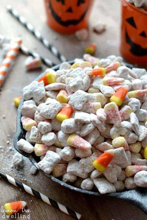 Sweet Amp Salty White Chocolate Candy Corn Muddy Buddies