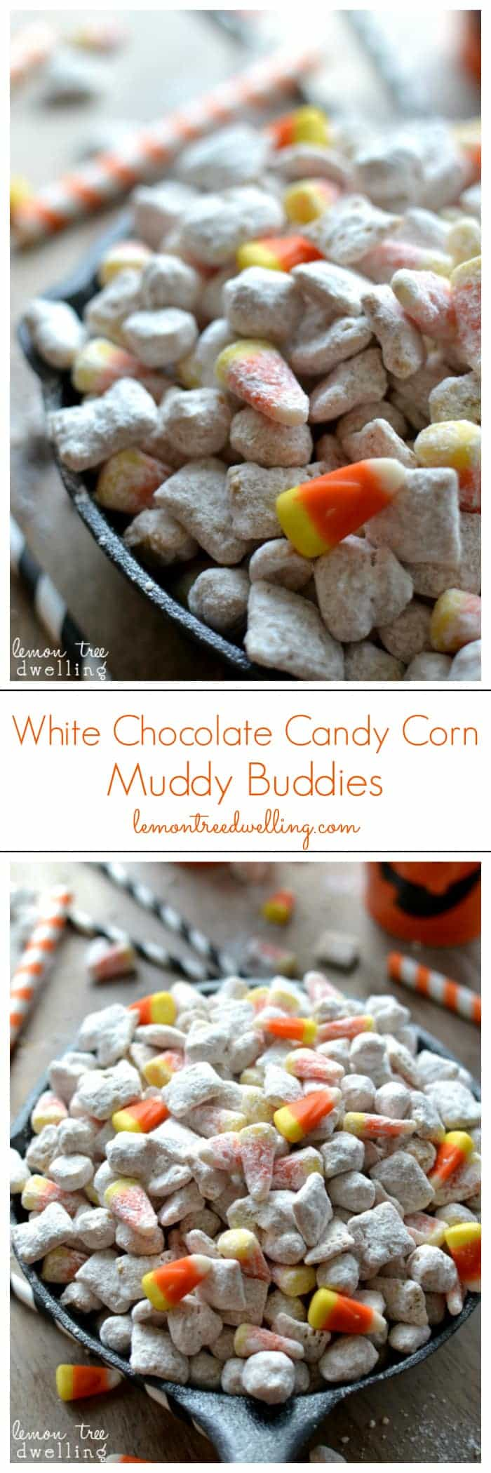 Sweet & Salty White Chocolate Candy Corn Muddy Buddies!
