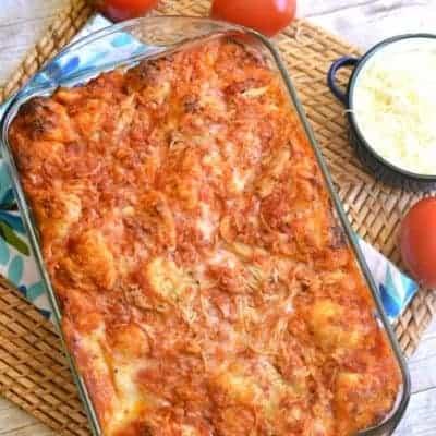Chicken Parmesan Pull-Apart Bread