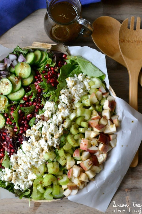 Fall Harvest Salad. This is definitely going on my holiday menu!