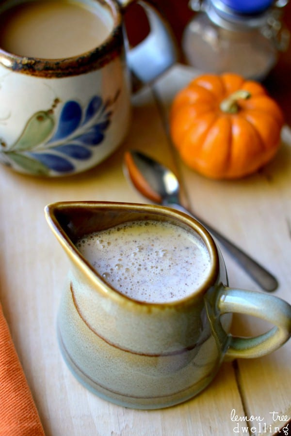 Pumpkin Spice Coffee Creamer - just 4 simple ingredients!