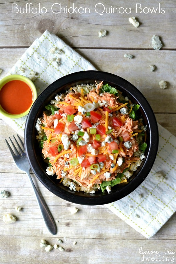 Buffalo Chicken Quinoa Bowl 3b