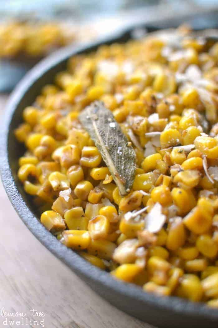 Skillet Corn with Browned Butter & Sage