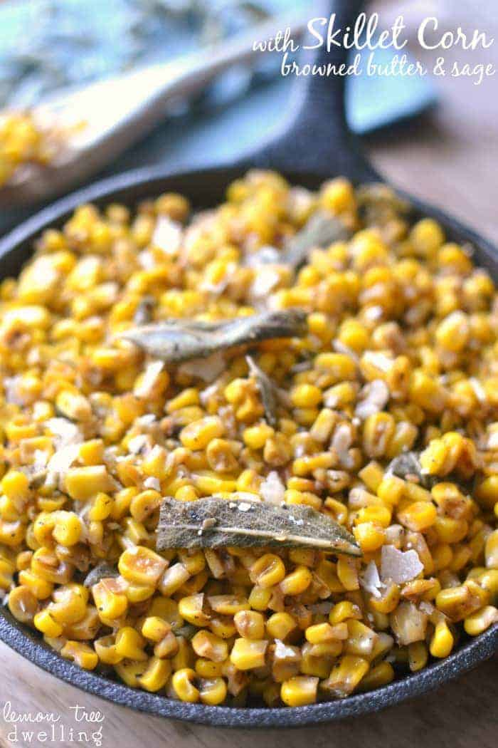 Frozen corn, transformed with a skillet, browned butter, garlic, and ...