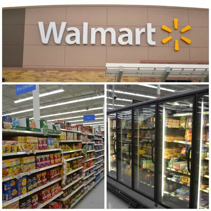 Walmart grocery aisles