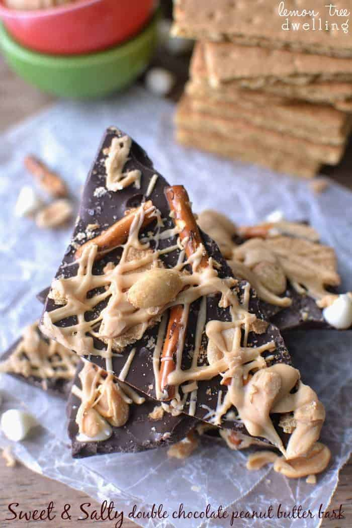 Sweet 'n Salty Double Chocolate PB Bark