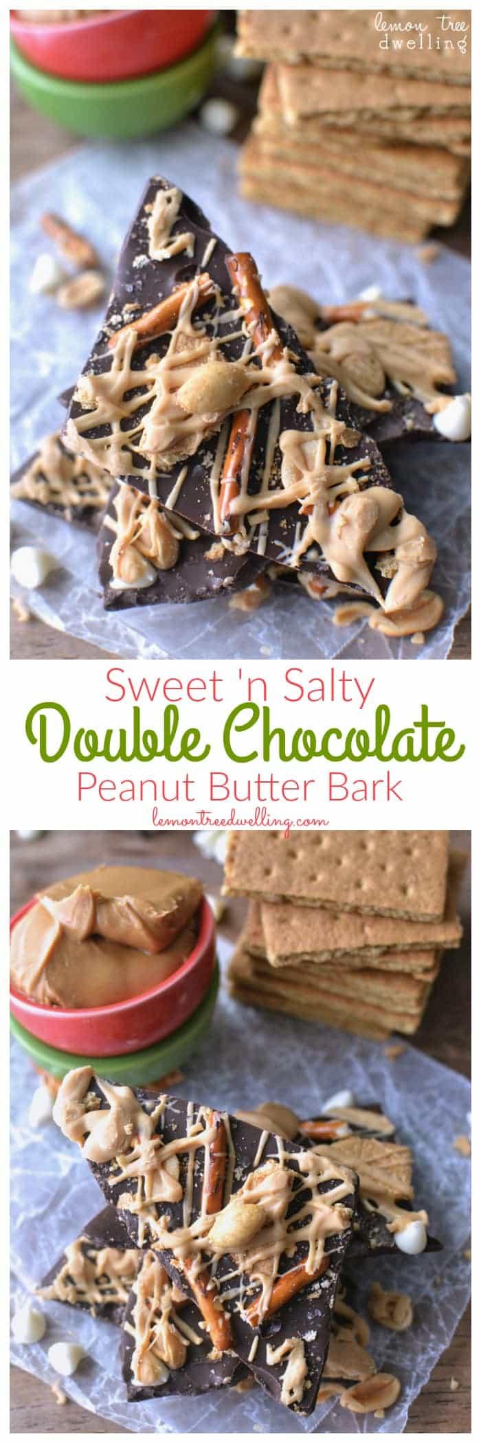 Sweet & Salty Double Chocolate Peanut Butter Bark