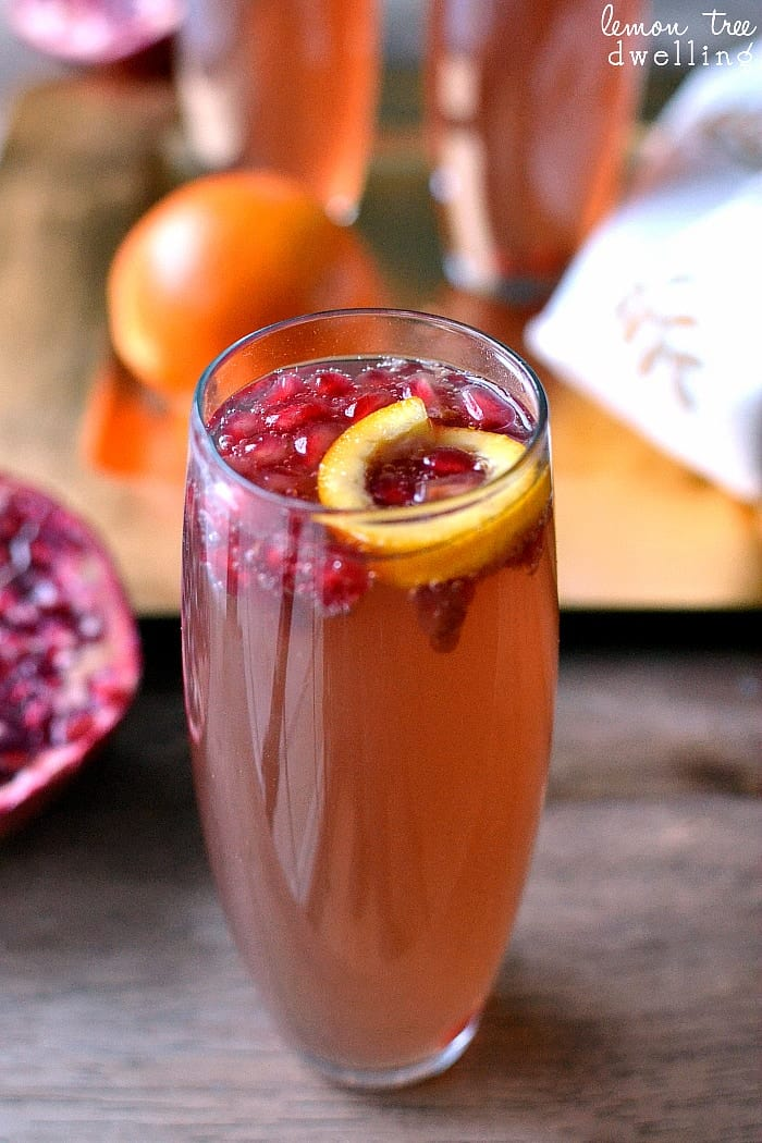 This Pomegranate-Orange Fizz Cocktail combines the classic flavors of pomegranate and orange with the celebratory feel of champagne. Add in some triple sec for an extra citrus blast and you have a cocktail that's worthy of a celebration!