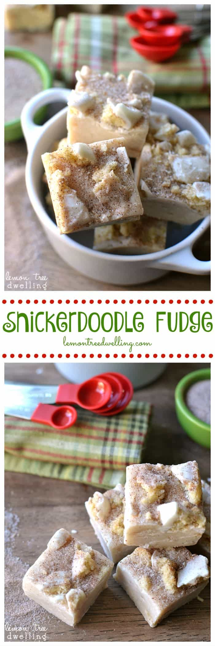 Snickerdoodle Fudge that tastes just like the cookies!