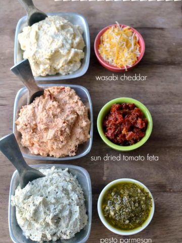 3 Ingredient Cheese Spreads will enhance your crackers and cheese snack!