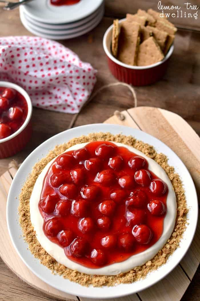 The BEST Cherry Cheesecake Dip!