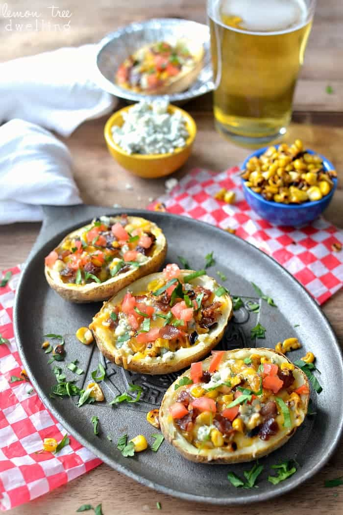 Loaded Cobb Potato Skins. WOW do these look amazing!