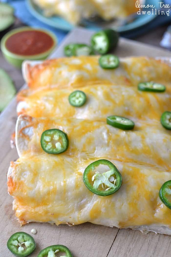 Creamy Chicken Enchiladas - hands down the BEST enchiladas I've ever had!