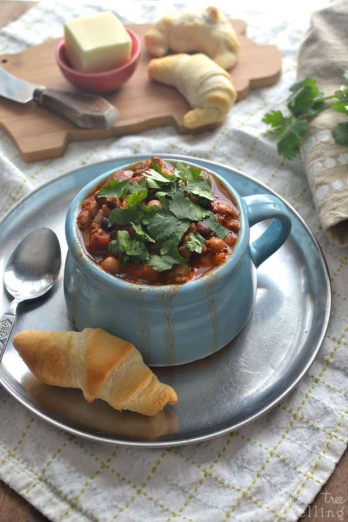 5-Bean Turkey Chili - this is the BEST chili recipe ever! #collectivebias #ad