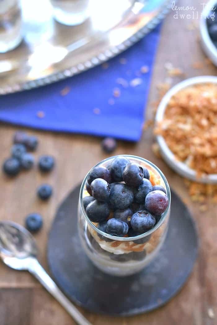 Blueberry Coconut Cheesecake Parfaits 4b