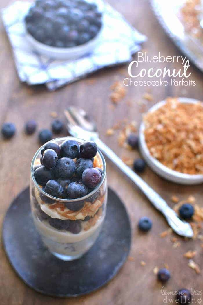 Blueberry Coconut Cheesecake Parfaits 5b